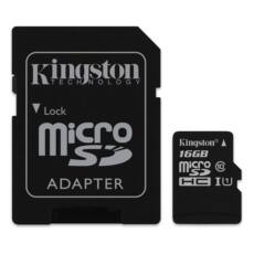 Kingston microSDHC 16GB (Class 10) UHS-I + Adapter (SDC10G2/16GB)