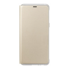 Samsung A530 Galaxy A8 (2018) gyári neon flip cover hátlap tok, arany EF-FA530PFEGWW (SM-A530)