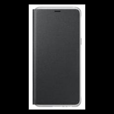 Samsung A530 Galaxy A8 (2018) gyári neon flip cover hátlap tok, fekete, EF-FA530PBEGWW (SM-A530)