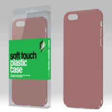 Plasztik tok Soft-touch felülettel rozé arany Apple iPhone 6 / 6S készülékhez