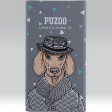 Puzoo powerbank 11000mah artdog white ravan