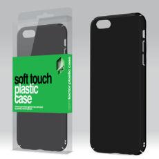 Plasztik tok Soft-touch felülettel fekete Samsung J5 2017 készülékhez