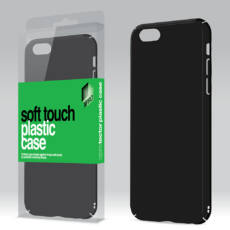 Plasztik tok Soft-touch felülettel fekete Samsung J7 2017 készülékhez