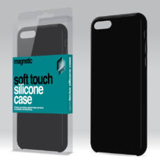 Magnetic Soft Touch Silicone Case fekete Apple iPhone 5 / 5S / SE készülékhez