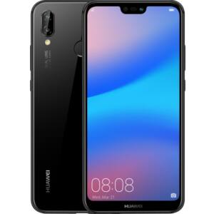 Huawei P20 Lite 64GB Dual SIM, éjfekete, Kártyafüggetlen, 2 év  Gyártói garancia
