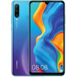 Huawei P30 Lite 128GB Dual SIM, kék, Kártyafüggetlen, 2 év Gyártói garancia