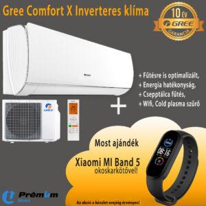 GREE GWH09ACC-K6DNA1A COMFORT X INVERTER KLÍMA, WIFI, 2,6 kW, 10 ÉV Garancia