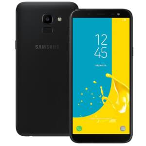 Samsung J600 Galaxy J6 (2018) 32GB Dual SIM, fekete, Kártyafüggetlen, 1 év Gyártói garancia