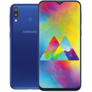 Samsung M20 (M205) 64GB Dual SIM kék, Kártyafüggetlen, 1 év Gyártói garancia