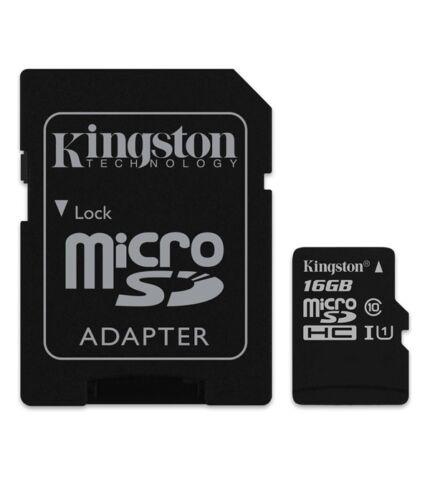 Kingston microSDHC 16GB (Class 10) UHS-I + Adapter (SDC10G2/16GB)