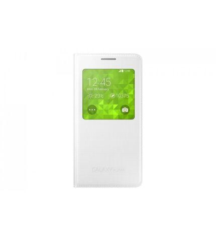 Samsung Galaxy Alpha gyári S-View flip tok, fehér, EF-CG850BW, (SM-G850)