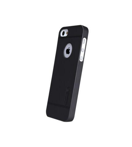 Nillkin Super Frosted hátlap tok Apple iPhone SE/5/5S, fekete + ajándék kijelzővédő fólia