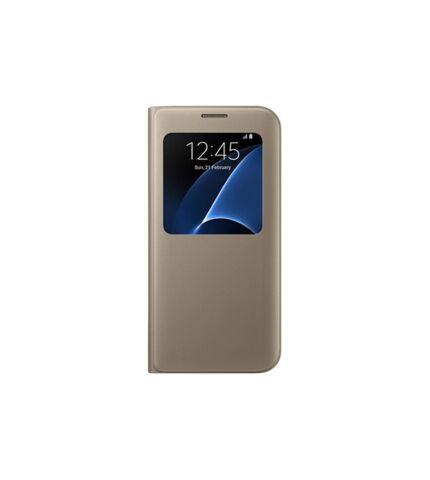 Samsung Galaxy S7 Edge gyári S-View flip tok, arany, EF-CG935PF, (SM-G935)