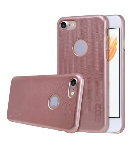Nillkin Super Frosted hátlap tok Apple iPhone 7, rozéarany + ajándék kijelzővédő fólia