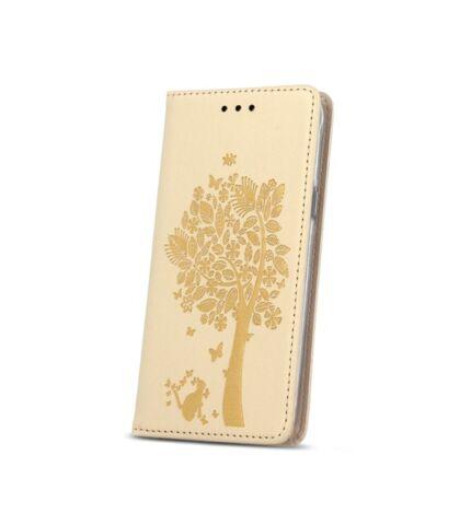 Magnet fa mintás flip tok, iPhone 6/6S, arany