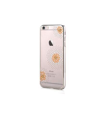 Beeyo Samsung G930 Galaxy S7 virág mintás tok, ezüst