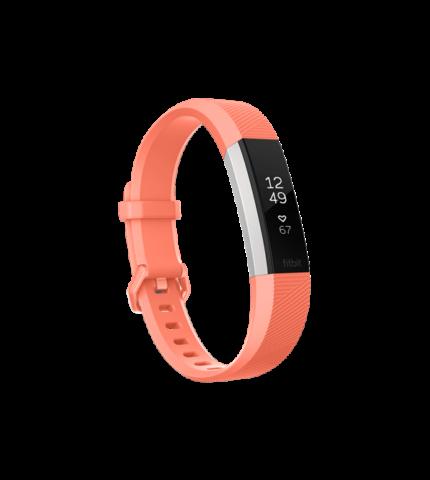 Fitbit Alta HR pulzusmérő és fitness aktivitásmérő karpánt, Large (FB408SCRL-EU) Coral / ezüst