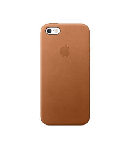 Apple iPhone 5/5S/SE gyári bőr hátlap tok, vörösesbarna, MNYW2