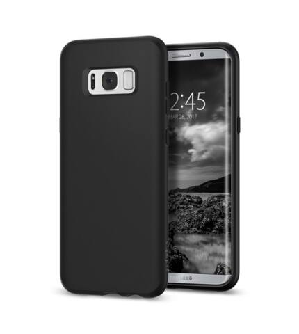 Spigen SGP Liquid Crystal Samsung Galaxy S8+ Matte Black hátlap tok