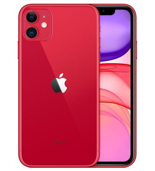 Apple iPhone 11 128GB red, Kártyafüggetlen, 1 év Gyártói garancia