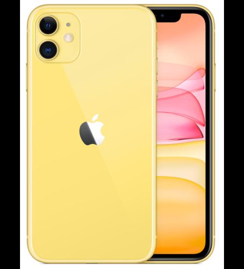 Apple iPhone 11 64GB sárga, Kártyafüggetlen, 1 év Gyártói garancia