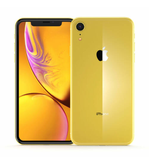 Apple iPhone XR 128GB sárga, Kártyafüggetlen, 1 év Gyártói garancia