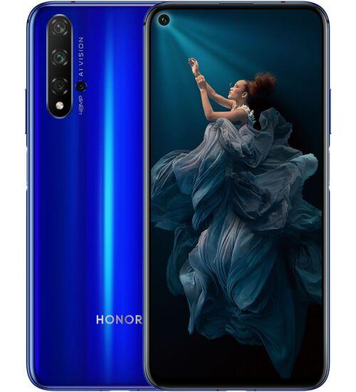 Honor 20 128GB Dual SIM kék, Kártyafüggetlen, 2 év Gyártói garancia