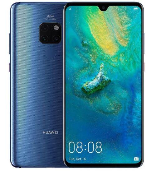 Huawei Mate 20 128GB Dual SIM, kék, Kártyafüggetlen, 2 év Gyártói garancia