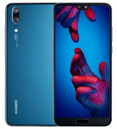 Huawei P20 128GB Dual SIM holdfény kék, Kártyafüggetlen, 2 év Gyártói garancia