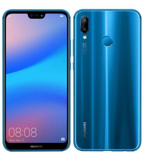 Huawei P20 Lite 64GB Dual SIM, kék, Kártyafüggetlen, 2 év  Gyártói garancia