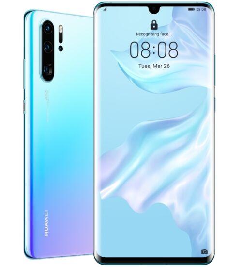 Huawei P30 128GB Dual SIM, jégkristály kék, Kártyafüggetlen, 2 év Gyártói garancia