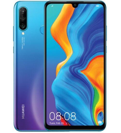 Huawei P30 Lite 256GB 6GB Dual SIM, kék, Kártyafüggetlen, 2 év Gyártói garancia