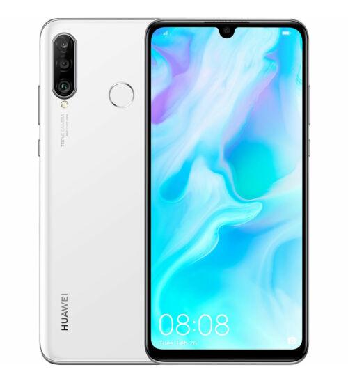 Huawei P30 Lite 128GB Dual SIM fehér, Kártyafüggetlen, 2év Gyártói garancia