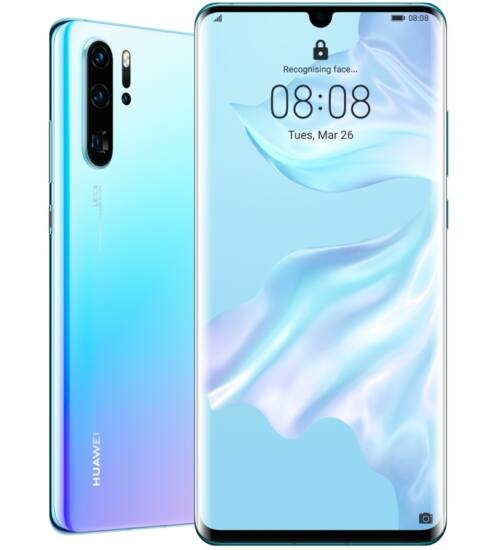 Huawei P30 Pro 128GB 8GB Dual SIM, jégkristály kék, Kártyafüggetlen, 2 év Gyártói garancia