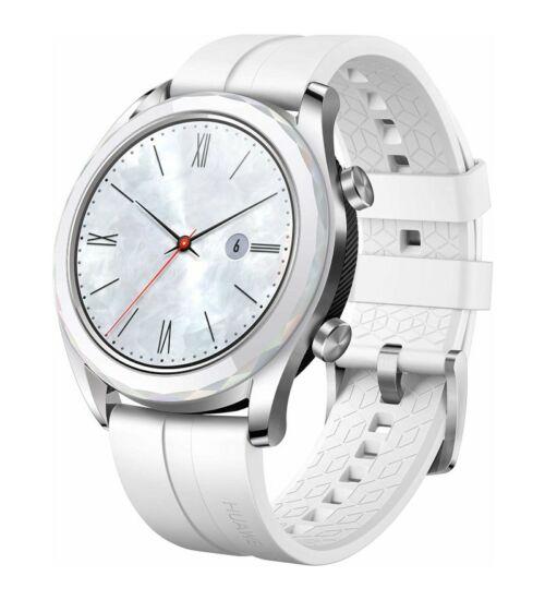Huawei Watch GT Elegant fehér okosóra, 1 év Gyártói garancia