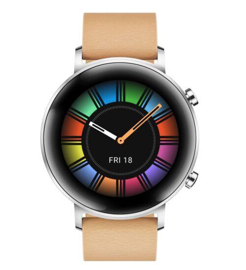 Huawei Watch GT 2 bézs okosóra, 2 év Gyártói garancia, 42mm, (55024475)