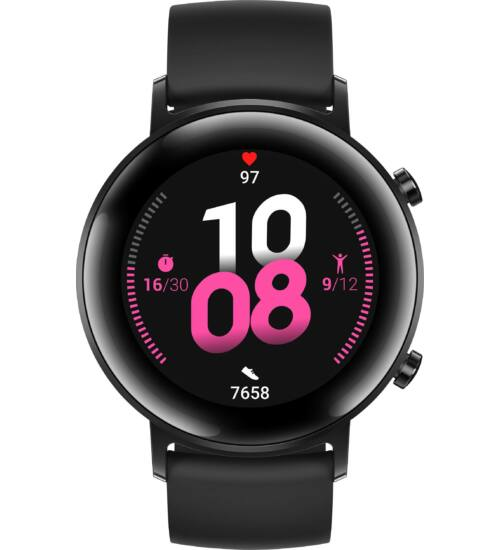 Huawei Watch GT 2 Sport fekete okosóra, 2 év Gyártói garancia, 42mm