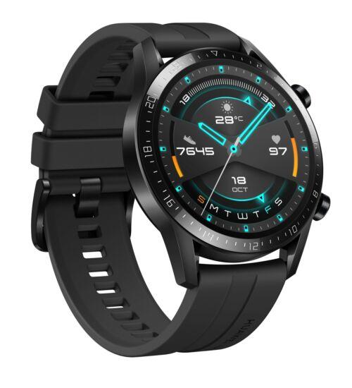 Huawei Watch GT 2 fekete okosóra, 1 év Gyártói garancia