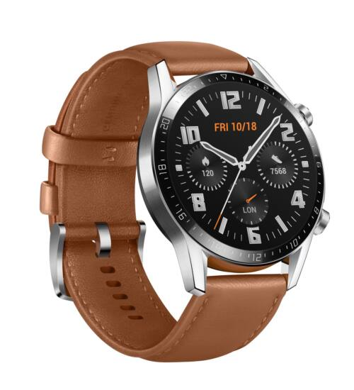 Huawei Watch GT 2 barna okosóra, 1 év Gyártói garancia