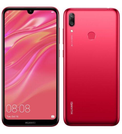 Huawei Y7 32GB (2019) Dual SIM piros, Kártyafüggetlen, 2év Gyártói garancia