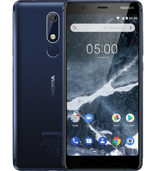 Nokia 5.1 32GB Dual Sim kék, Kártyafüggetlen, 1 év Gyártói garancia