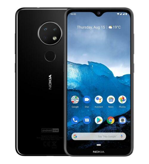 Nokia 6.2 64GB Dual SIM fekete, Kártyafüggetlen, 1 év Gyártói garancia