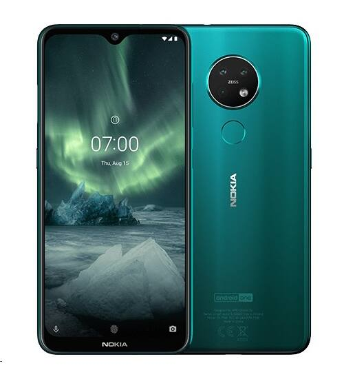 Nokia 7.2 128GB 6GB Dual Sim zöld, Kártyafüggetlen, 1 év Gyártói garancia