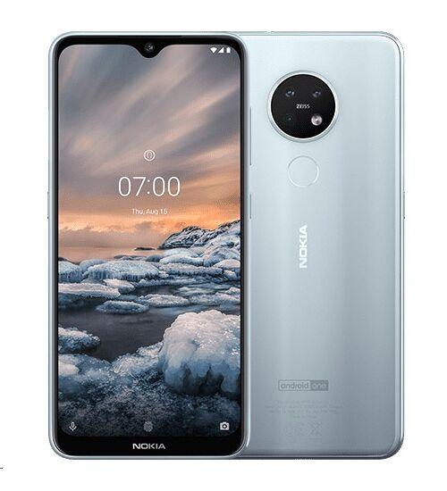 Nokia 7.2 128GB 6GB Dual Sim ezüst, Kártyafüggetlen, 1 év Gyártói garancia
