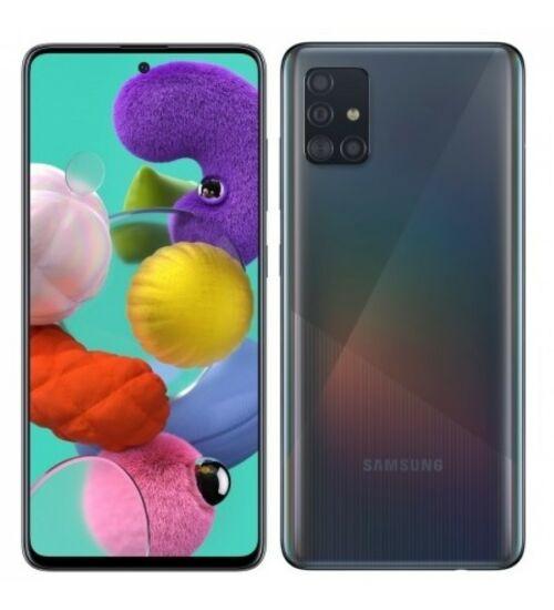 Samsung Galaxy A51, (A515) Dual Sim 128GB, fekete, 1 év gyártói garancia