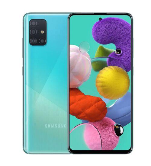Samsung Galaxy A71 (A715) 6GB 128GB Dual SIM kék, Kártyafüggetlen, 1 év Gyártói garancia