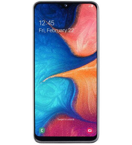 Samsung A20e (A202) 32GB Dual SIM fehér, Kártyafüggetlen,1 év Gyártói garancia
