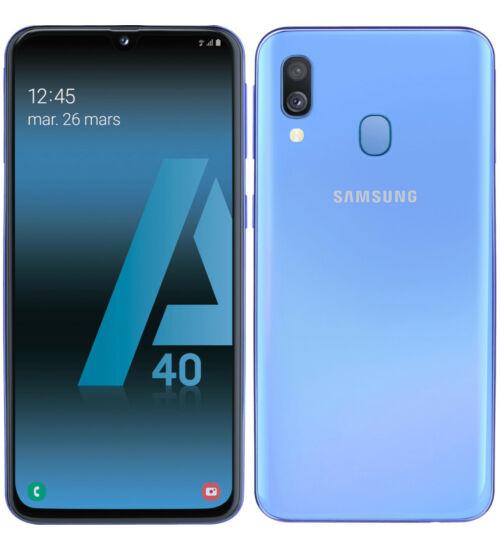 Samsung Galaxy A40 64GB Dual SIM A405, kék, 1 év Gyártói garancia