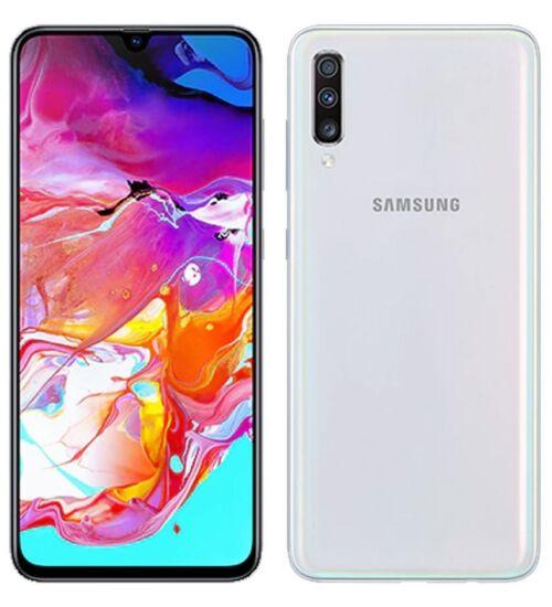 Samsung Galaxy A70 (2019) 6GB 128GB Dual SIM (B20), fehér, Kártyafüggetlen, 1 év Gyártói garancia