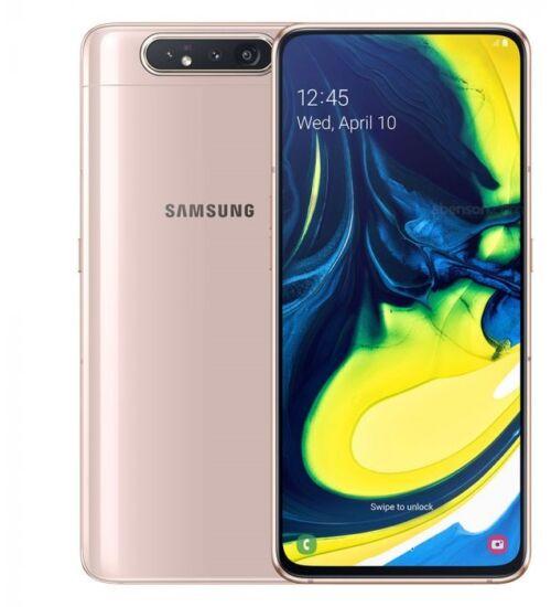 Samsung Galaxy A80 A805 8GB 128GB Dual SIM arany, Kártyafüggetlen, 1 év Gyártói garancia
